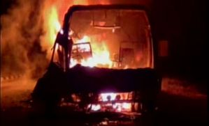 andhra bus fire