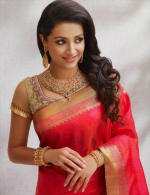 trisha saree stills