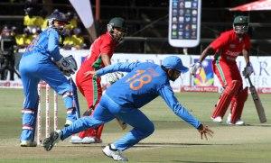 1st odi score India Vs Zimbabwe